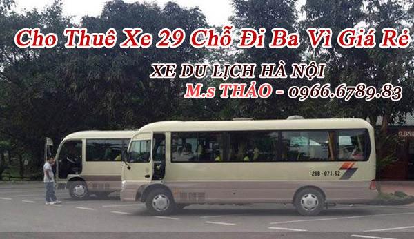 Cho Thuê Xe 29 Chỗ Đi Du Lịch Ba Vì Giá Rẻ Tại Hà Nội