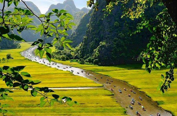 Tam Cốc – Bích Động là một danh thắng nổi tiếng của Ninh Bình.