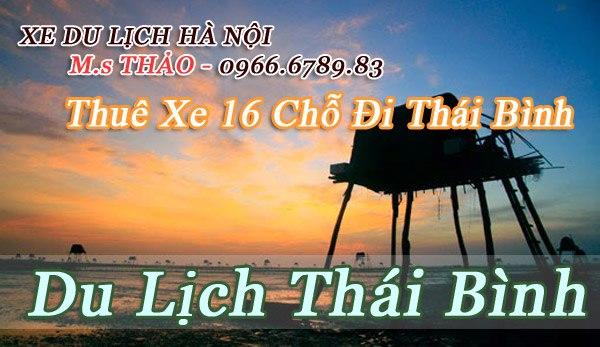 Dịch vụ cho thuê xe 16 chỗ đi Thái Bình giá rẻ tại Hà Nội