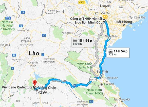 Cung đường từ Hà Nội đến Vientiane - Lào