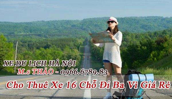 Dịch vụ cho thuê xe 16 chỗ đi Ba Vì giá rẻ tại Hà Nội