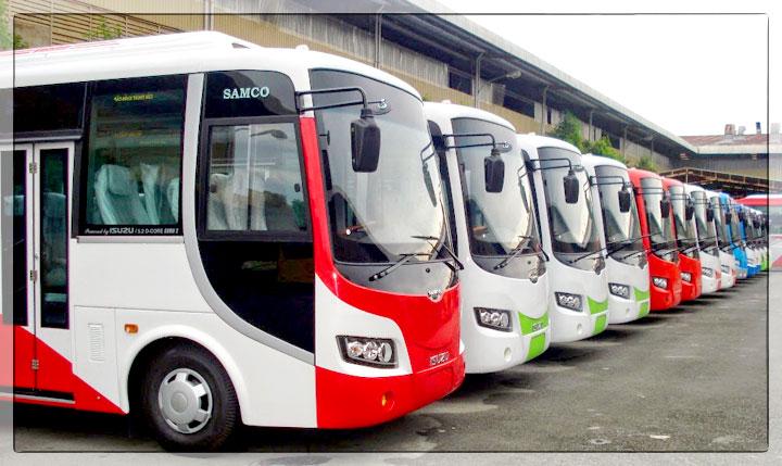 xe du lịch Isuzu Samco tại nhà xe Minh Đức