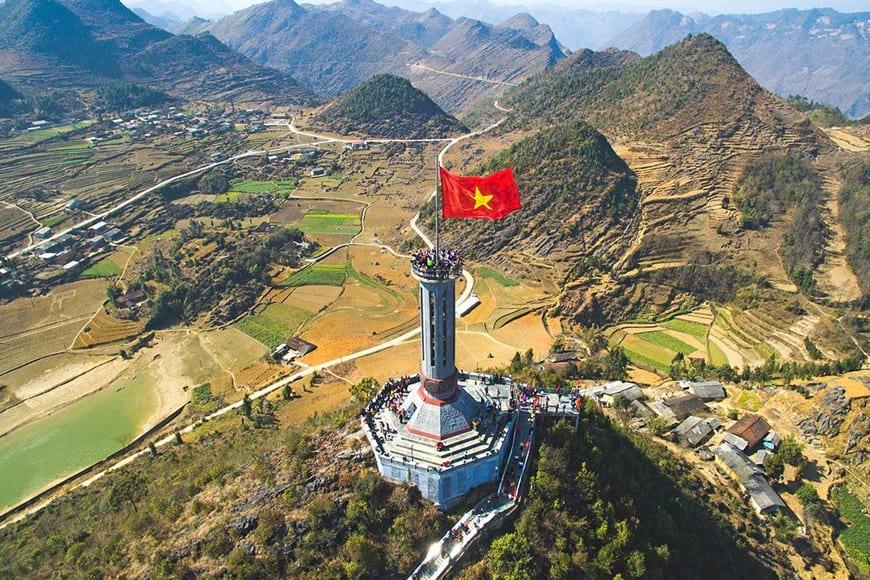 Địa danh cột cờ Lũng Cú nổi tiếng ở Hà Giang